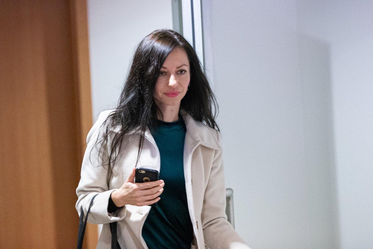 Správkyňa Lenka Ivanová, ktorá riadi konkurz na majetok odsúdeného Ladislava Bašternáka. (zdroj: SME - Marko Erd)